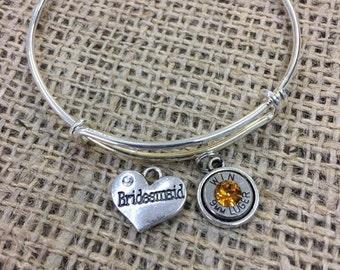 Bridesmaid Bullet Charm Bracelet