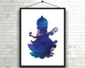 Goddess Saraswati Wall Art // Saraswati Digital Print // Saraswati Print