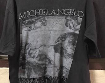 Vintage 90s MichelAngelo art tee