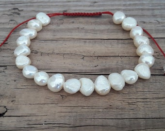 Minimalist pearl bracelet freshwater pearl bracelet white pearl bracelet bracelet with freshwater pearls gift for women gift for her