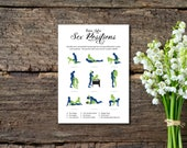 Bachelorette Game, KamaSutra Guess The Sex Positions, Naughty Game, Navy Blue and Green, Elegant, Printable PDF, Instant Download E135A