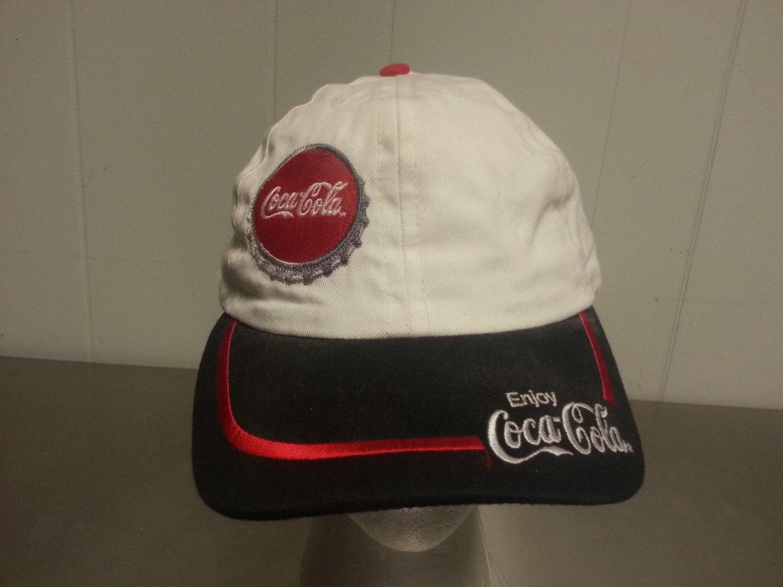 Vintage 90 s Coke Coca Cola Bottle Cap Snapback Dad Hat Soda Soft Drink  Promotional Cap Made c6d3f310e669