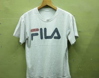 Vintage Fila Shirt Big Logo Sportswear Streetwear Top Tee T Shirt Size M