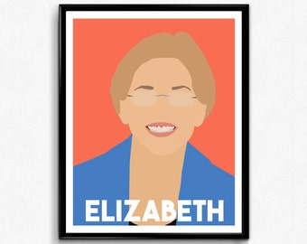 Elizabeth Warren Feminist Poster- Minimalist Feminist Art
