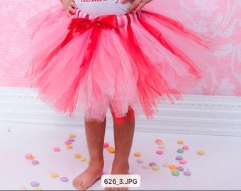 Red, Pink, and Light Pink Tutu - Valentines Day Tutu - Tutu - Ballet - Birthday Tutu