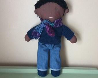 Cute little plush boy doll