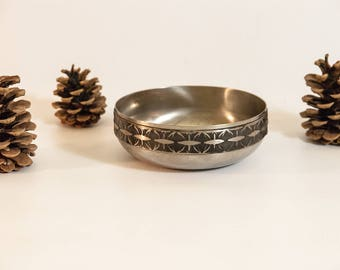 metal bowl vintage metal dish viking wedding ring dish viking bowl norwegian - Viking Wedding Rings
