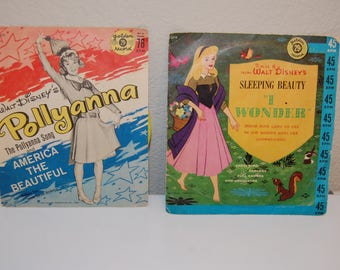 Disney's Golden Records - Pollyanna ~ 2 Classic Songs and Sleeping Beauty 'I Wonder' Song
