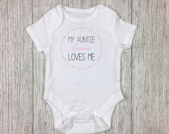 Baby vest etsy personalised baby vest baby onesie aunt gift auntie vest newborn gift negle Gallery
