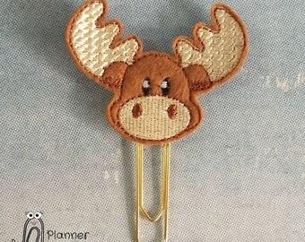 Moose planner clip, moose paper clip, moose, cute moose face, moose planner accessories, moose head, moose antlers, moose topper, elk clip