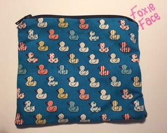 Cute rubber ducks coin purse.