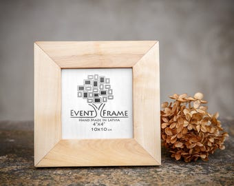 Picture Frame Photographer Gift, 4x4 SQUARE FRAME from solid ASH, Wall Art Gift for Her, Gift for Photographer, Gift for Wife, Birthday Gift