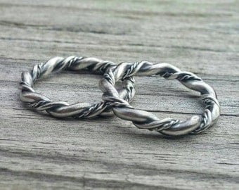 Braided Ring * Wire Ring * Sterling Ring * Woven Ring * Stacking Ring * Boho Jewelry * Artisan Jewelry * Metalsmith Jewelry