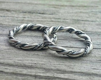 Trinity Weave Ring * Braided Ring * Sterling Ring * Woven Ring * Stacking Ring * Boho Jewelry * Artisan Jewelry * Metalsmith Jewelry