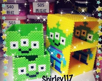 Tutorial - LGM Little Green Man Perler Beads Box (Digital Download)