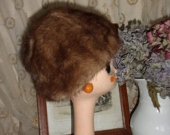 A vintage hat or vintage fur, mink farm