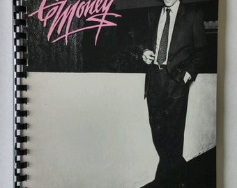 Eddie Money Notebook Made from Recycled Vinyl Record Album Cover
