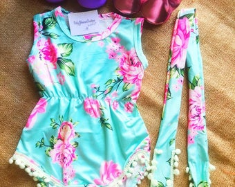Free Shipping,Outfit,Baby,Onesies,Princess,Girl,Floral,Blue,Set,Headband,Cloth,Photo,Prop