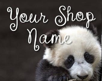 Panda Banner Set, Wildlife Banner Set, Shop Banner Set, Graphic Design, Banner Design, Custom Banner, Premade Banner,