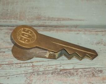 Vintage Brass Key Paper Clip 505
