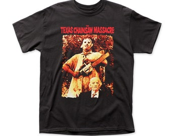 Texas Chainsaw Massacre leatherface & grandpa adult tee (TCM07)