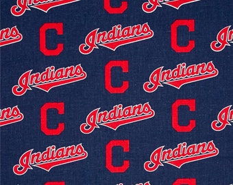 MLB Cleveland Indians Cotton Fabric by the yard (IST4)