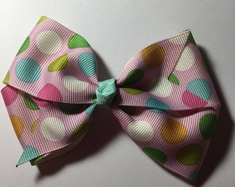 Pastel Easter hair bows