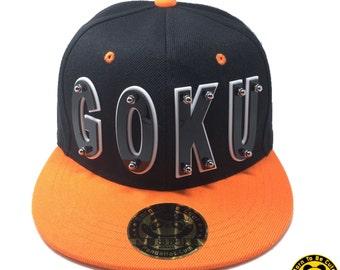 GOKU Dragon Ball Acrylic Letter Snapback Orange Hat
