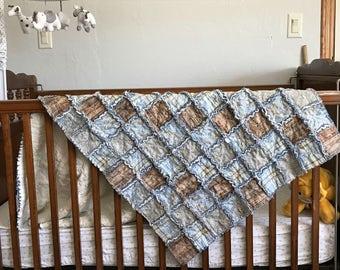 Rag Quilt, Baby Crib size, Lap Quilt
