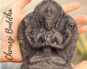 Tibetan Chenrezi Carved Stone Buddha Statue