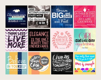 Inspirational Quotes Stickers, Motivational Stickers, Inspirational Stickers, Decorative Stickers, Inkwell Press Stickers, IWP // INQ001