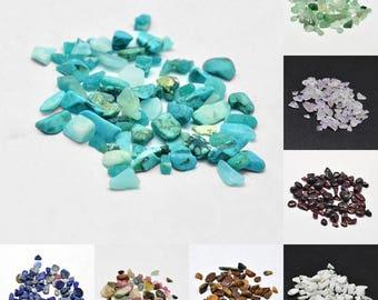 20gr NO HOLE Gemstone Chips for filling Wish Bottles 2-8x2-4mm Select Gemstone