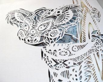Koala, handmade papercut