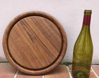 ANTIQUE VINTAGE FRENCH bread or chopping cutting board wood round 363
