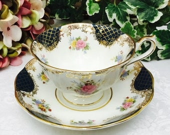 "Royal Albert Empress Series ""Cleopatra"" teacup and saucer."