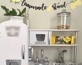 Lemon garland, lemonade stand, lemons, lemon party decor, first birthday party, one, highchair garland