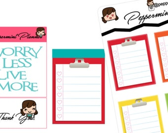 Clipboard Planner Stickers {#217}