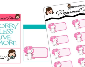 Angry Unicorn Box planner Sticker #255