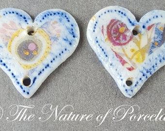 Artisan Porcelain Hearts #09