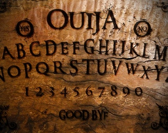 Ouija Board with Planchette - Designer Handmade Burnt Board by OccultBoards.com