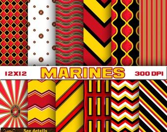Marines digital paper, scrapbook, background
