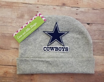Cowboy baby gift etsy dallas cowboys baby hat dallas cowboys beanie dallas cowboys hat for baby cowboys negle Gallery