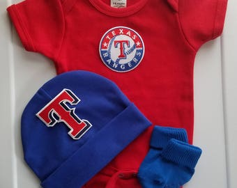 Baby boy Texas rangers outfit/baby rangers bodysuit/rangers romper/rangers creeper/Texas rangers baby boy gift/Texas rangers for baby