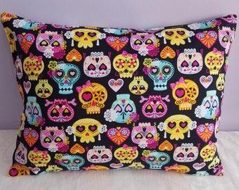 day of dead skull pillow-skulls pillow-mexican sugar skull pillow/sugar skull pillow/day of the dead chair pillow/mexican pillow/sugar skull
