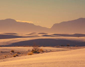 White Sands: WALL ART Fine Art Photography New Mexico Desert Landscape Sunset Natural Light Outdoors Soft Dreamy Color Southwestern Decor