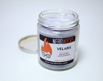 Velaris - A Court of Wings and Ruin Inspired Soy Candle - Starlight and Sea Salt Scent