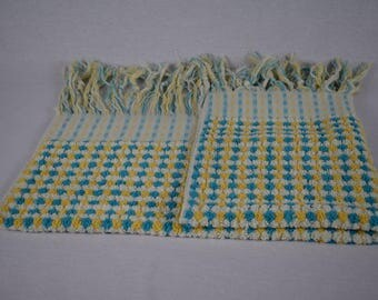 Handwoven Foot Towel - 100% Organic Turkish Cotton - Bright and Colourful