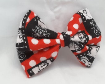 bettyboop hair bow, bettyboop hair clip, betty boop hair accessories