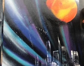 Spray Paint space/city