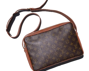 Louis Vuitton Monogram Sac Bandouliere Crossbody Bag Shoulder Purse Handbag Vintage Authentic YO3625